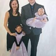 Razi And Her Family Art Print