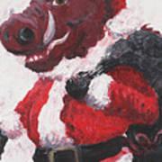 Razorback Santa Art Print