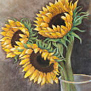 Reaching Sunflowers Art Print