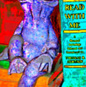 Read With Me Frog Art Print
