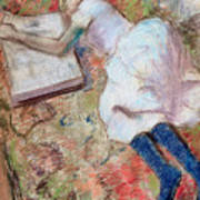 Reader Lying Down Art Print