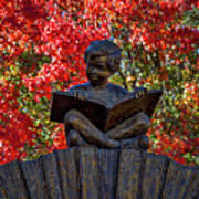 Reading Boy - Santa Fe Art Print
