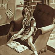 Reading Corner Art Print