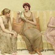 Reading The Story Of Oenone Print by Francis Davis Millet
