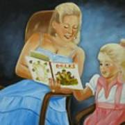 Reading With Gramma Art Print
