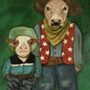 Real Cowboys 3 Art Print