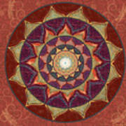 Realm Of The Desert Lotus Mandala Art Print