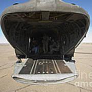 Rear Platform Of A Ch-47 Chinook Art Print