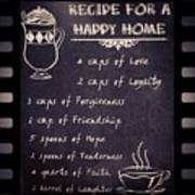 Recipe For A Happy Home Recipe Happy Greeting Card For Sale By