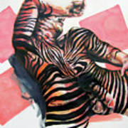 Reclined Striped And Symbolic  Art Print