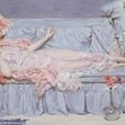 Reclining Model Art Print by Albert Joseph Moore