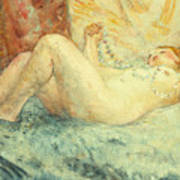 Reclining Nude Art Print by Henri Lebasque