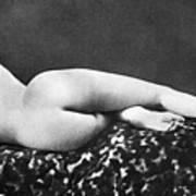 Reclining Nude: Rear View Art Print
