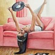 Records And Chill Art Print