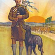 Recruitment Poster The Call To Arms Irishmen Dont You Hear It Art Print