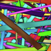 Rectangle Matrix 24 - Amcg20180305 40 X 27 Art Print