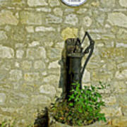 Rectory Mansion And Hand Pump - Brading Art Print
