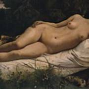 Recumbent Nymph Art Print by Anselm Feuerbach