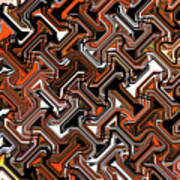 Recurring Pattern Abstract Art Print