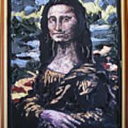 Recycled Mona Art Print