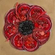 Recycled Poppy Art Print