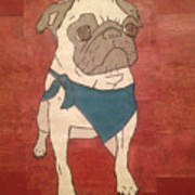 Recycled Pug Art Print