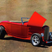 Red 1932 Ford Hot Rod  Art Print