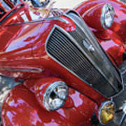 Red 1938 Plymouth Art Print