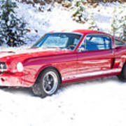Red 1966 Ford Mustang Shelby Art Print