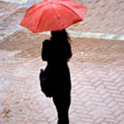Red 2 - Umbrellas Series 1 Art Print
