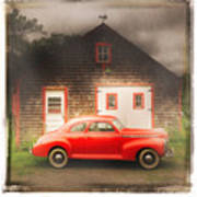 Red 41 Coupe Art Print