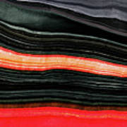 Red And Black Art - Fire Lines - Sharon Cummings Art Print