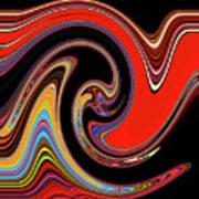 Red And Black Stream  Art Print
