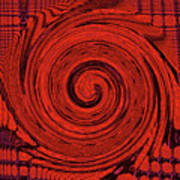 Red And Black Swirl - Modern/contemporary Painting Art Print