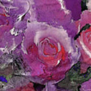 Red And Violet Roses Art Print