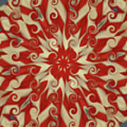 Red And White  Art Print