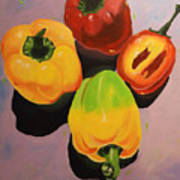 Red And Yellow Peppers Art Print
