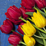 Red And Yellow Tulips Print by Garry Gay