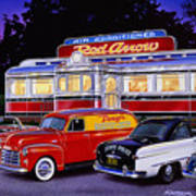 Red Arrow Diner Art Print