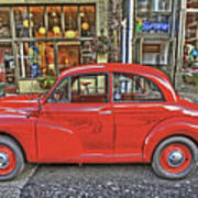 Red Morris Minor Art Print