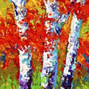 Red Autumn Art Print