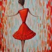 Red Ballerina Art Print