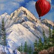 Red Balloon  Art Print by Crispin  Delgado
