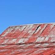 Red Barn And Blue Sky- Fine Art Art Print