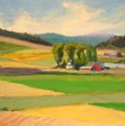 Red Barn Farm Art Print