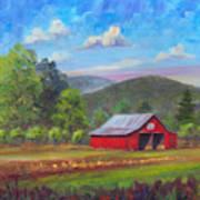 Red Barn in Fruitland Art Print