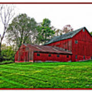 Red Barn In Ohio Art Print