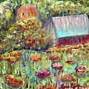 Red Barn In Summer Art Print