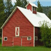 Red Barn Montana Art Print