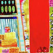 Red Barnyard Art Print